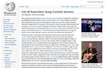 http://en.wikipedia.org/wiki/List_of_Eurovision_Song_Contest_winners
