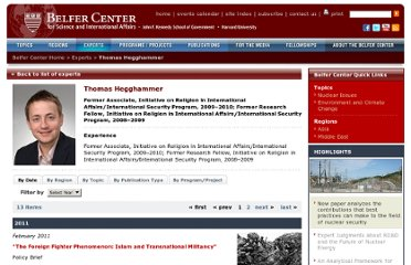http://belfercenter.ksg.harvard.edu/experts/1825/thomas_hegghammer.html