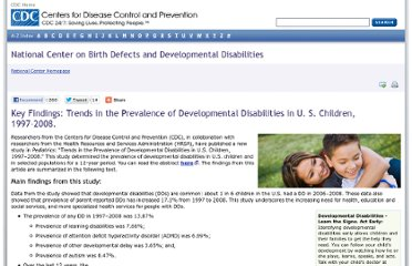 http://www.cdc.gov/ncbddd/features/birthdefects-dd-keyfindings.html