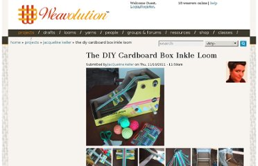 http://weavolution.com/project/jacqueline-keller/diy-cardboard-box-inkle-loom