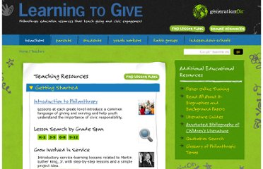 http://learningtogive.org/teachers/