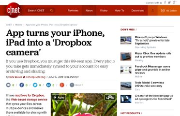 http://reviews.cnet.com/8301-19512_7-20071672-233/app-turns-your-iphone-ipad-into-a-dropbox-camera/