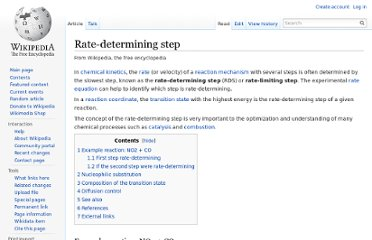 http://en.wikipedia.org/wiki/Rate-determining_step