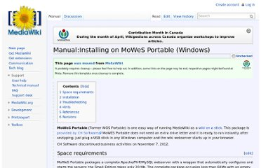 http://www.mediawiki.org/wiki/Manual:Installing_on_MoWeS_Portable_(Windows)