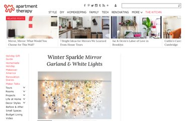 http://www.apartmenttherapy.com/winter-sparkle-mirror-garland-134177