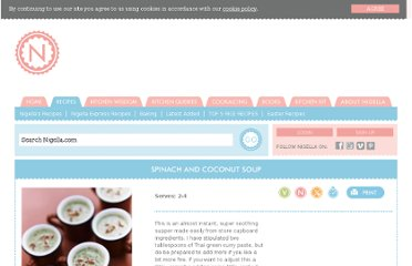 http://www.nigella.com/recipes/view/spinach-and-coconut-soup