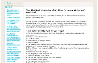 http://www.bestcrimebooks.com/top-100-mysteries-of-all-time-mystery-writers-of-america/