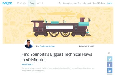 http://www.seomoz.org/blog/find-your-sites-biggest-technical-flaws-in-60-minutes