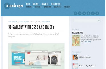http://tympanus.net/codrops/2012/02/06/3d-gallery-with-css3-and-jquery/
