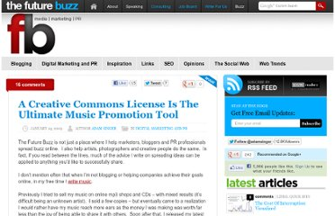 http://thefuturebuzz.com/2009/01/14/creative-commons-license-ultimate-music-promotion-tool/