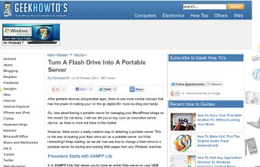 http://www.geekhowtos.com/turn-a-flash-drive-into-a-portable-server/