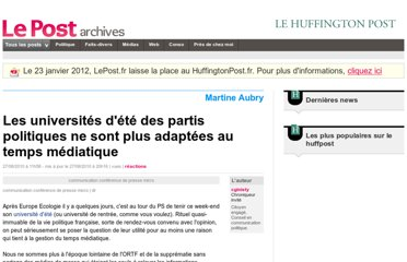 http://archives-lepost.huffingtonpost.fr/article/2010/08/27/2197000_les-universites-d-ete-des-partis-politiques-ne-sont-plus-adaptees-au-temps-mediatique.html