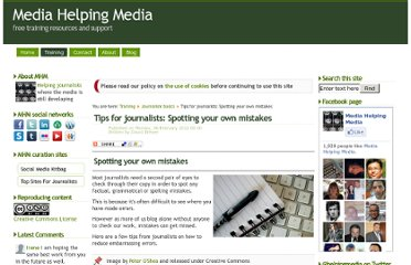 http://www.mediahelpingmedia.org/training-resources/journalism-basics/657-tips-for-journalists-spotting-your-own-mistakes