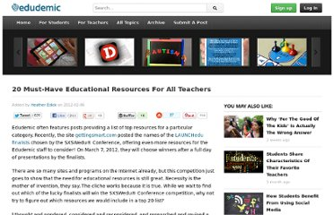 http://edudemic.com/2012/02/20-ed-resources/