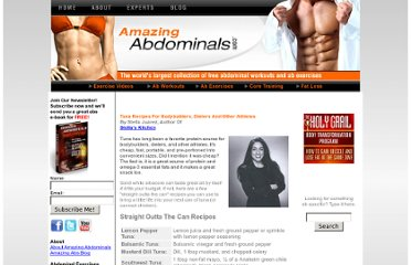 http://www.amazingabdominals.com/ab_recipes/tunarecipes.shtml