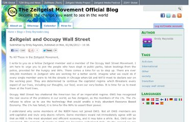 http://blog.thezeitgeistmovement.com/blog/emily-reynolds/zeitgeist-and-occupy-wall-street