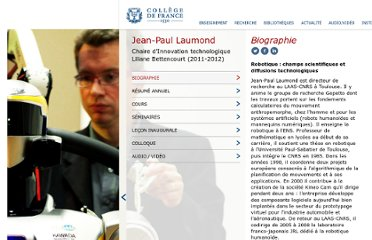 http://www.college-de-france.fr/site/jean-paul-laumond/index.htm