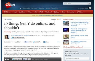 http://www.zdnet.com/blog/igeneration/10-things-gen-y-do-online-and-shouldnt/14979