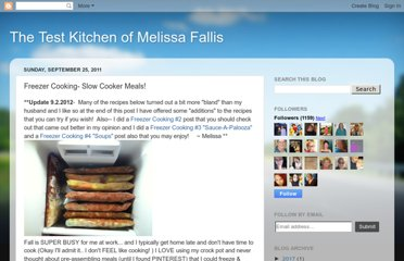 http://melissafallistestkitchen.blogspot.com/2011/09/freezer-cooking-slow-cooker-meals.html