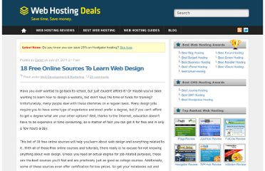 http://www.webhostingdeals.org/webdevelopmentmarketing/18-free-online-sources-to-learn-web-design