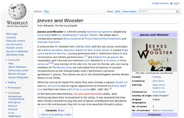 http://en.wikipedia.org/wiki/Jeeves_and_Wooster