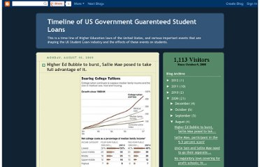 http://timeline-gls.blogspot.com/2009/08/higher-ed-bubble-to-burst-sallie-mae.html