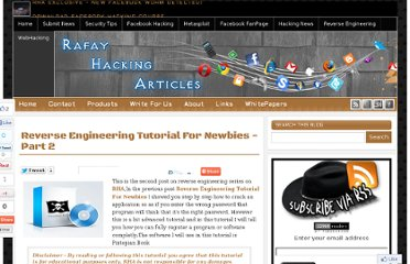 http://www.rafayhackingarticles.net/2011/01/reverse-engineering-tutorial-for_10.html