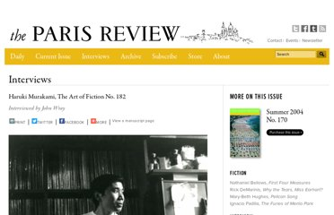 http://www.theparisreview.org/interviews/2/the-art-of-fiction-no-182-haruki-murakami