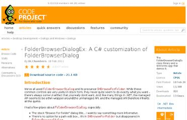 http://www.codeproject.com/Articles/159352/FolderBrowserDialogEx-A-C-customization-of-FolderB