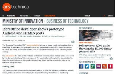 http://arstechnica.com/business/news/2012/02/libreoffice-developer-shows-prototype-android-and-html5-ports.ars