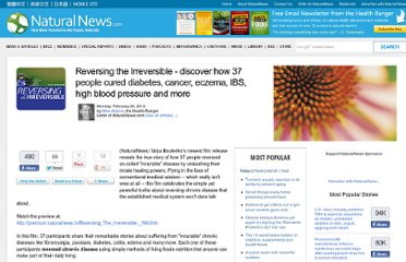http://www.naturalnews.com/034887_Reversing_the_Irreversible_cancer_diabetes.html