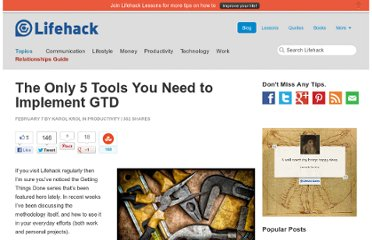 http://www.lifehack.org/articles/productivity/the-only-5-tools-you-need-to-implement-gtd.html