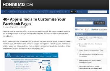 http://www.hongkiat.com/blog/apps-tools-to-customize-facebook-pages/