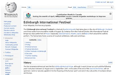 http://en.wikipedia.org/wiki/Edinburgh_International_Festival