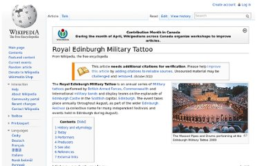 http://en.wikipedia.org/wiki/Royal_Edinburgh_Military_Tattoo