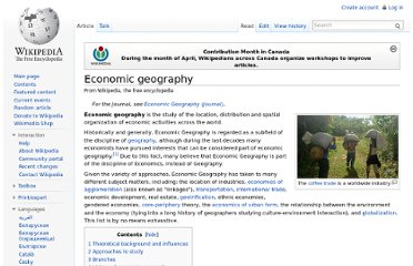 http://en.wikipedia.org/wiki/Economic_geography
