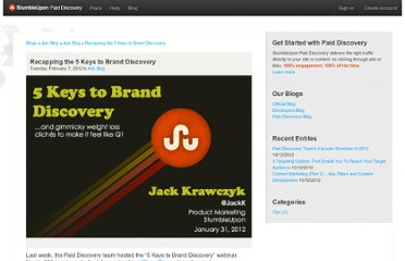 http://www.stumbleupon.com/ads/blog/recapping-the-5-keys-to-brand-discovery/