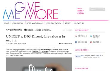 http://www.givememore.net/2012/unicef-x-ing-direct-llevalos-a-la-escula/
