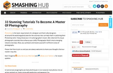 http://smashinghub.com/33-stunning-tutorials-to-become-a-master-of-photography.htm