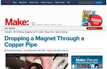 http://blog.makezine.com/2011/12/14/dropping-a-magnet-through-a-copper-pipe/