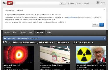 http://www.youtube.com/education?category=K-12/Science