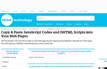 http://personalweb.about.com/od/copypastejavascripts/Copy_Paste_JavaScript_Codes_and_DHTML_Scripts_into_Your_Web_Pages.htm