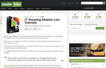 http://audio.tutsplus.com/articles/general/17-amazing-ableton-live-tutorials/