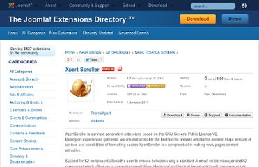 http://extensions.joomla.org/extensions/news-display/articles-display/news-tickers-a-scrollers/15315