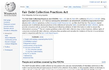 http://en.wikipedia.org/wiki/Fair_Debt_Collection_Practices_Act