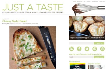 http://www.justataste.com/2011/05/cheesy-garlic-bread/