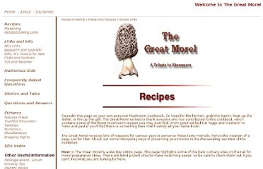 http://thegreatmorel.com/recipes.html