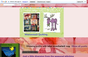 http://moosestashquilting.blogspot.com/search/label/crocheted%20rug