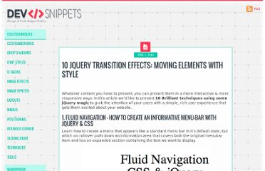 http://devsnippets.com/article/10-jquery-transition-effects.html