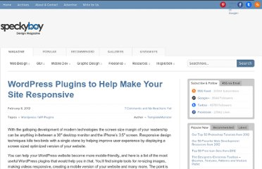 http://speckyboy.com/2012/02/08/wordpress-plugins-to-help-make-your-site-responsive/